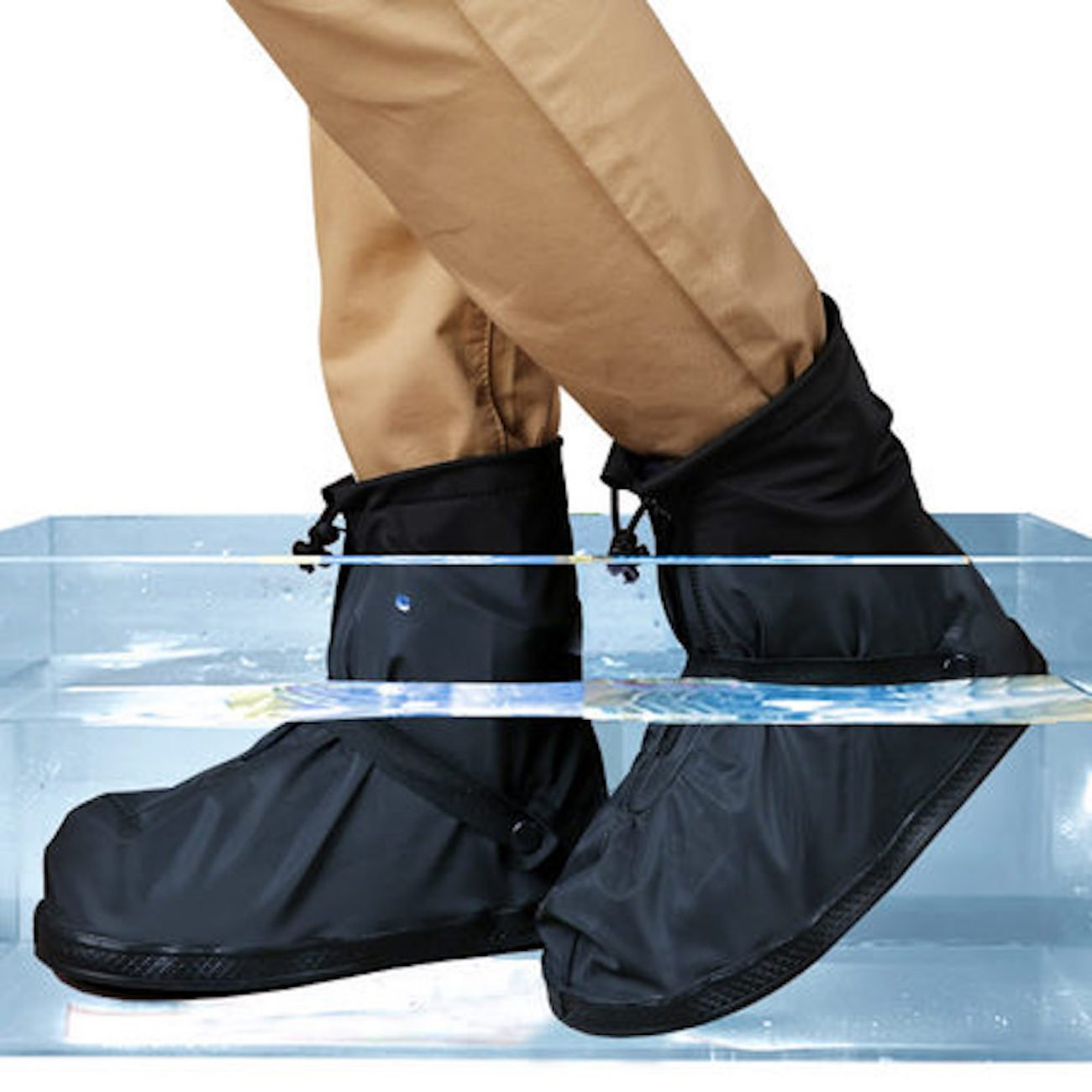 Life-C Black Waterproof Snow Rain Shoes Covers Women Men XXXXL by Life-C (Image #1)