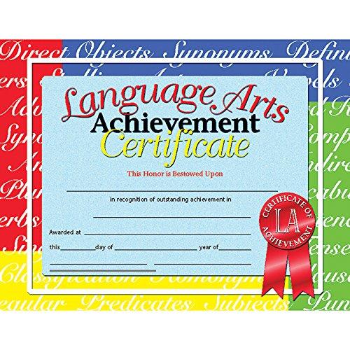 Language Arts Certificate (Set of 30) -