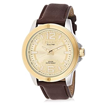34babfe47802d Buy OMAX Analog Gold Dial Men s Watch with Brown Strap - GX23T15I ...