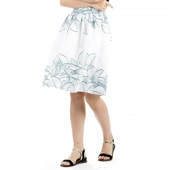 9b5283620 Oudan Falda de Mujer Falda Estampada Retro Floral Trapecio ...