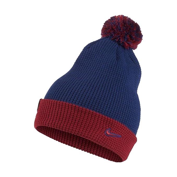 0c5f7f15758 Amazon.com   Nike FC Barcelona Beanie  DEEP Royal Blue Noble RED ...
