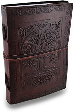 Tree of Life Embossed Leather Bound Journal Leather Handmade Diary Writing Book