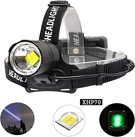 Linkax Lampe Frontale LED Puissante Rechargeable Torche Phare...