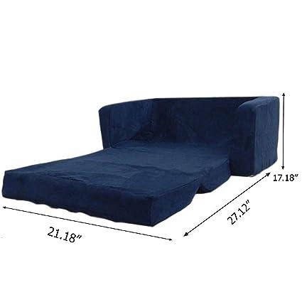 Amazon Com Flip Open Foam Sofa For Kids Room Recliner Sectional