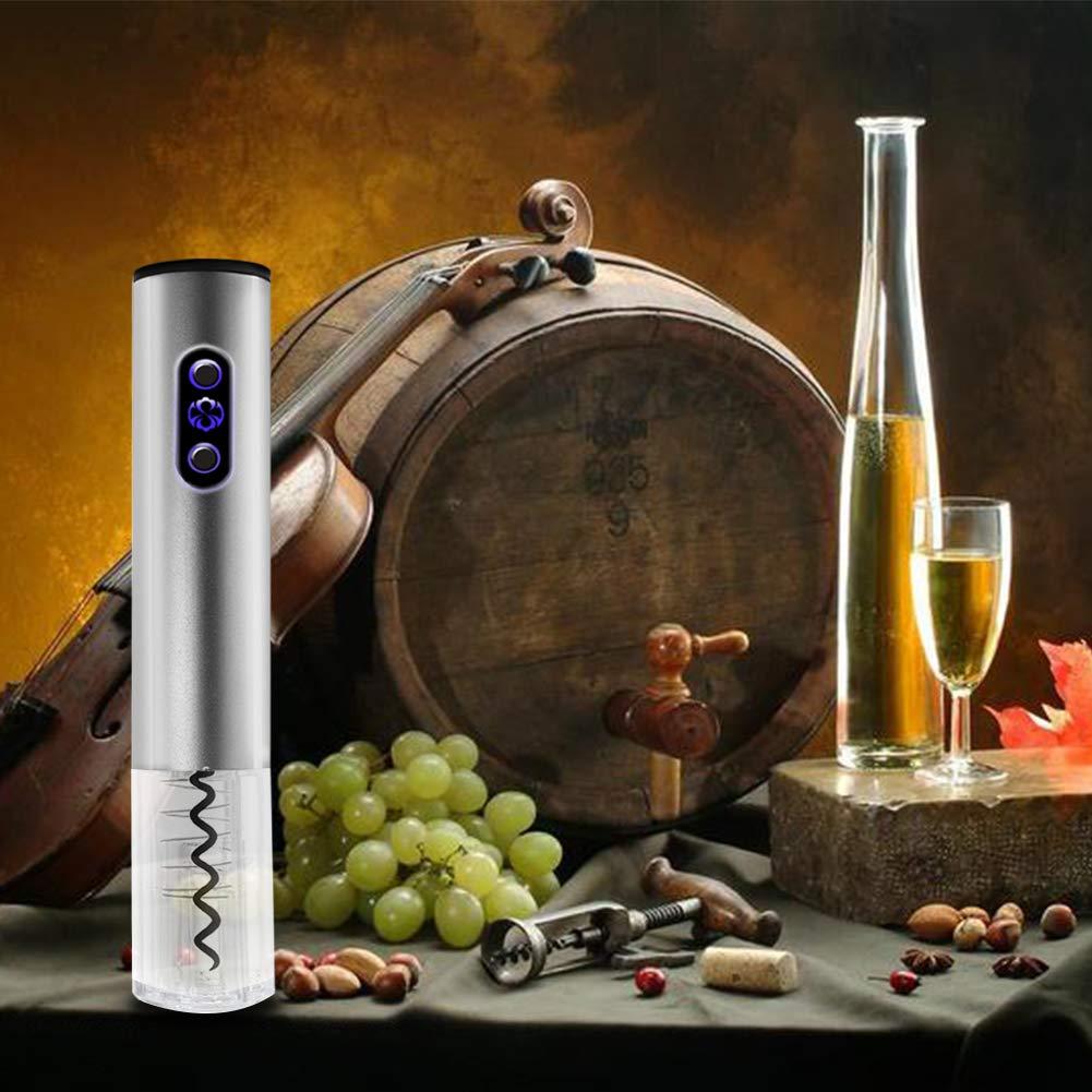 abridorde Botella el/éctrico de Vino con Cortador de Paper Sacacorchos Recargable con Accesorios Grey-mond Sacacorchos el/éctrico Vertedor