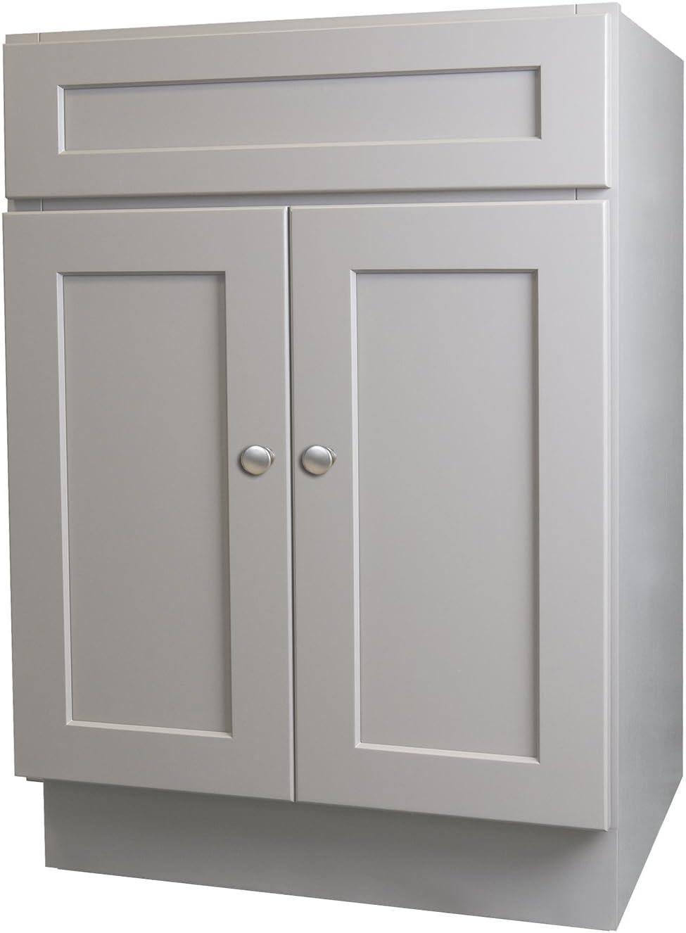 Shaker Gray 24 X 21 Bathroom Vanity Cabinet Amazon Com