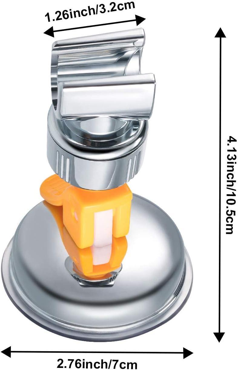 1 Pi/èce, Cl/é Orange Support de Douche R/églable de Salle de Bains Support de Pommeau de Douche /à Ventouse Support de Montage en Plastique ABS avec Chrome Poli pour Marbre Verre M/étal C/éramique