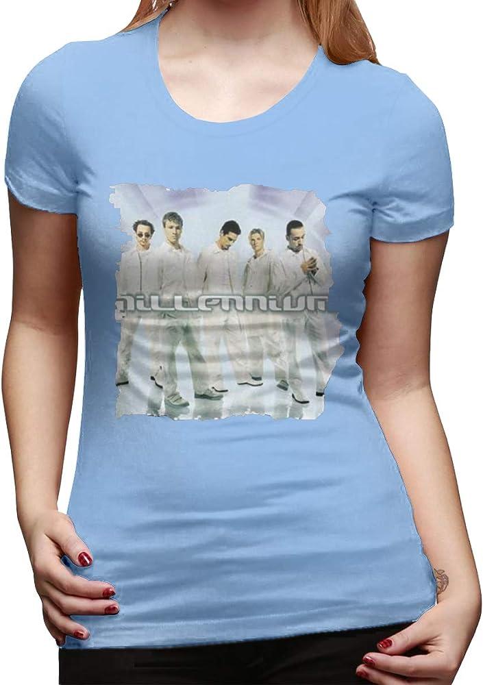 Camiseta básica de Manga Corta de algodón para Mujer con Logo del ...