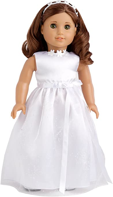 American girl doll dress for  first communion//Wedding or fancy dress up