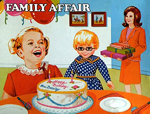 "FAMILY AFFAIR TV SHOW LUNCHBOX VINTAGE ART 2"" x 3"" Fridge MAGNET SET OF 2 refrigerator lunch box nostalgic retro Mrs. Beasley"