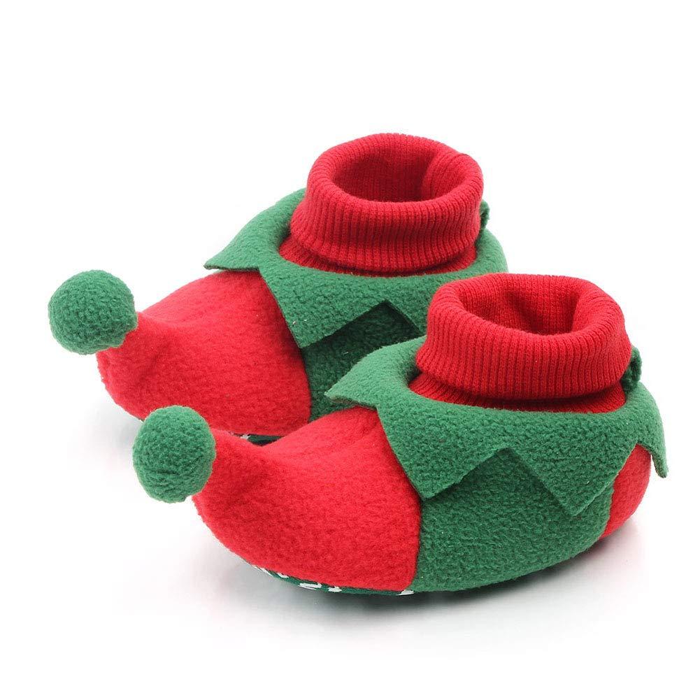 Hankyky Baby Weihnachten Stiefel Slipper Schuhe Neugeborenen Booties Kleinkind Winter Warm Prewalker Boy Girl
