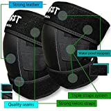 InGwest Home - Professional Knee Pads for work - gardening, landscaping, tiling, flooring, chores with 4 layers material. Moisture proof Knee Pads. Strong Triple Straps with Velcros