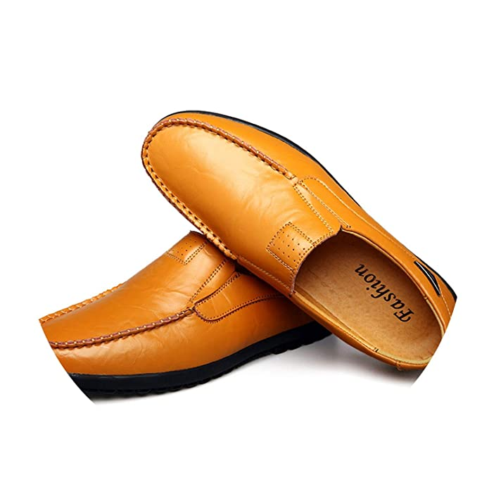 Amazon.com | Cow Split Leather Men Flat Shoes Men Loafers Tenis Adulto Driving Shoes | Loafers & Slip-Ons