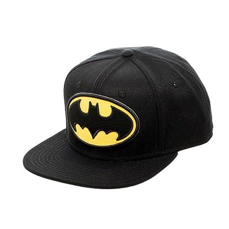 DC Comics Batman Classic Embroidered Logo Snapback Gorra De Béisbol