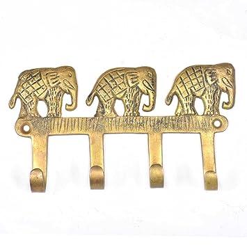 indioshelf hecho a mano 2 Artístico vendimia dorado Latón eleventiladortes eleventiladorte pared Manos Perchas /Manos para colgando toallas: Amazon.es: ...