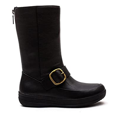 0834bbfda Fitflop Womens FF-LUX Biker Black Mid Boots 6  Amazon.co.uk  Shoes ...