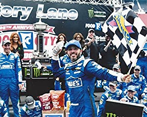 AUTOGRAPHED 2017 Jimmie Johnson #48 Lowes Racing BRISTOL WIN (Victory Lane Celebration) Monster Energy Cup Series Signed Collectible Picture NASCAR 8X10 Inch Glossy Photo with COA by Trackside Autographs