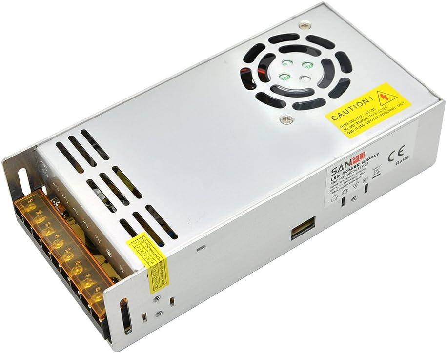 INFINIC 24v 400w led fuente de alimentación conmutada 16a controlador de voltaje constante 220v 110v ac/dc iluminación transformador de salida única (SANPU PS400-H1V24)