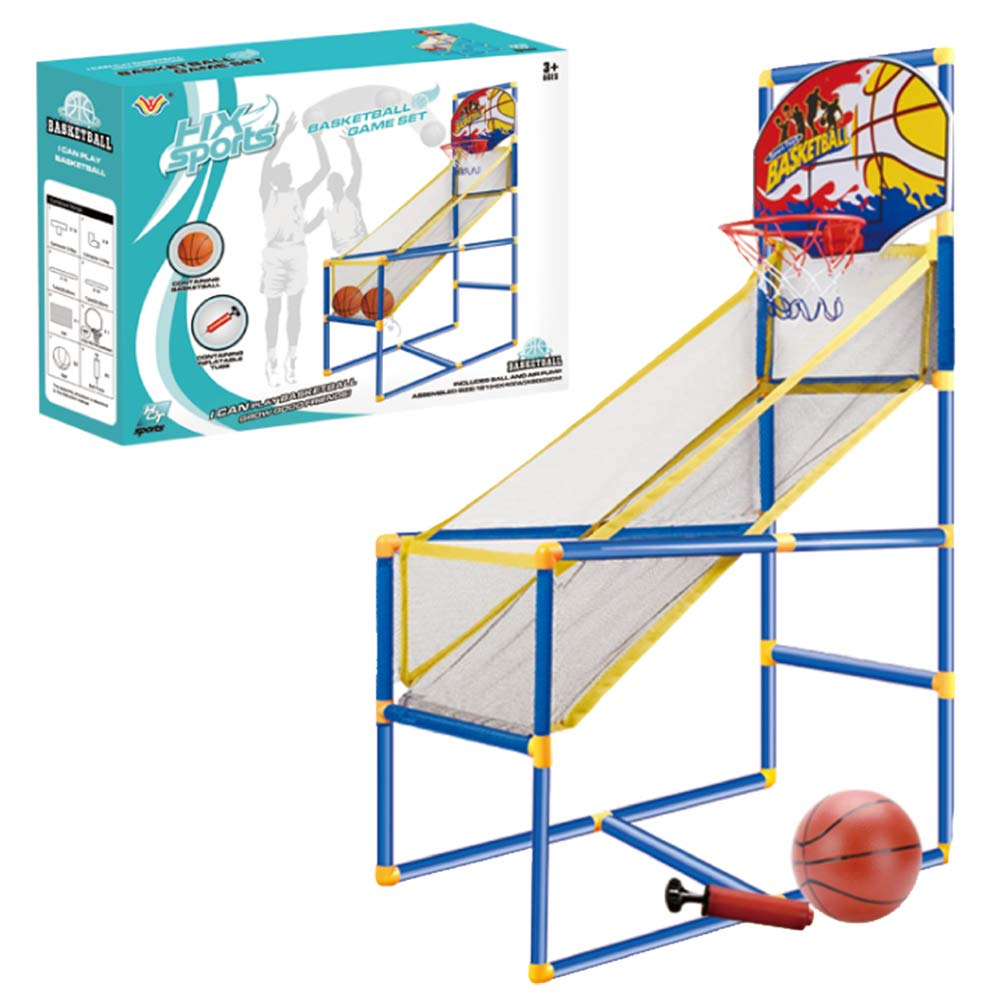 Kids Arcade Basketball Hoop Shot Game - Indoor Sports Shooting System with Mini Hoop, Inflatable Ball and Pump by Liberty Imports
