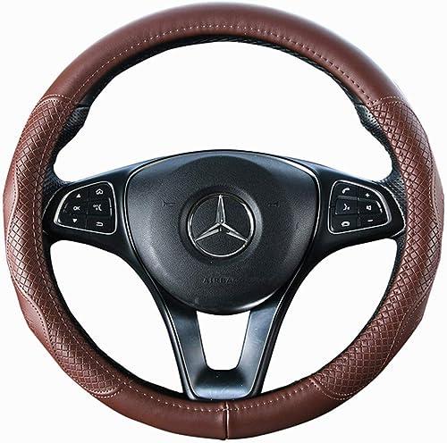 Brown Wheel Cover Cowhide Steering Wheel Cover Genuine Leather Wheel Cover Universal