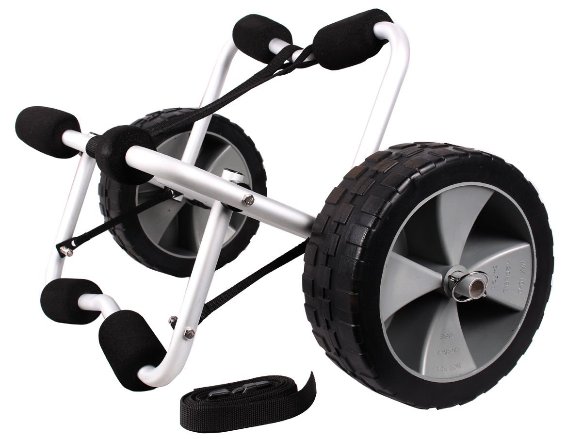 Boat Kayak Canoe Carrier Dolly Trailer Tote Trolley Transport Cart Wheel W/strap