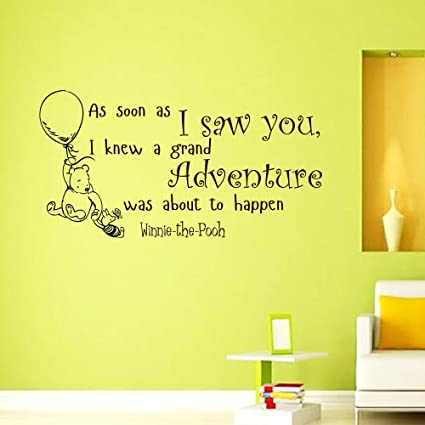 Wall Vinyl Decal Quote Sticker Home Decor Art Mural As soon as I saw ...