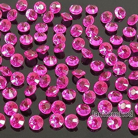 2,000 pcs 4.5mm Diamond Table Confetti Acrylic Wedding Party Decor Crystals Vase Filler Hot Pink - Nba Jazz Lamp