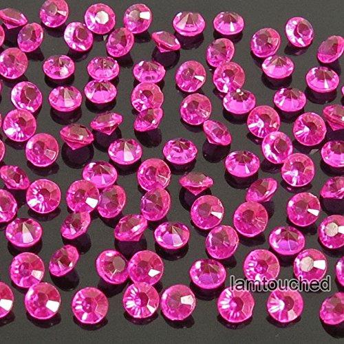 2,000 pcs 4.5mm Diamond Table Confetti Acrylic Wedding Party Decor Crystals Vase Filler Hot Pink Fuchsia ()