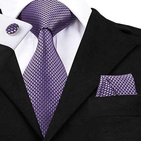VGYUAS Corbata Corbata para Hombre Tela Jacquard Corbata Tejida ...