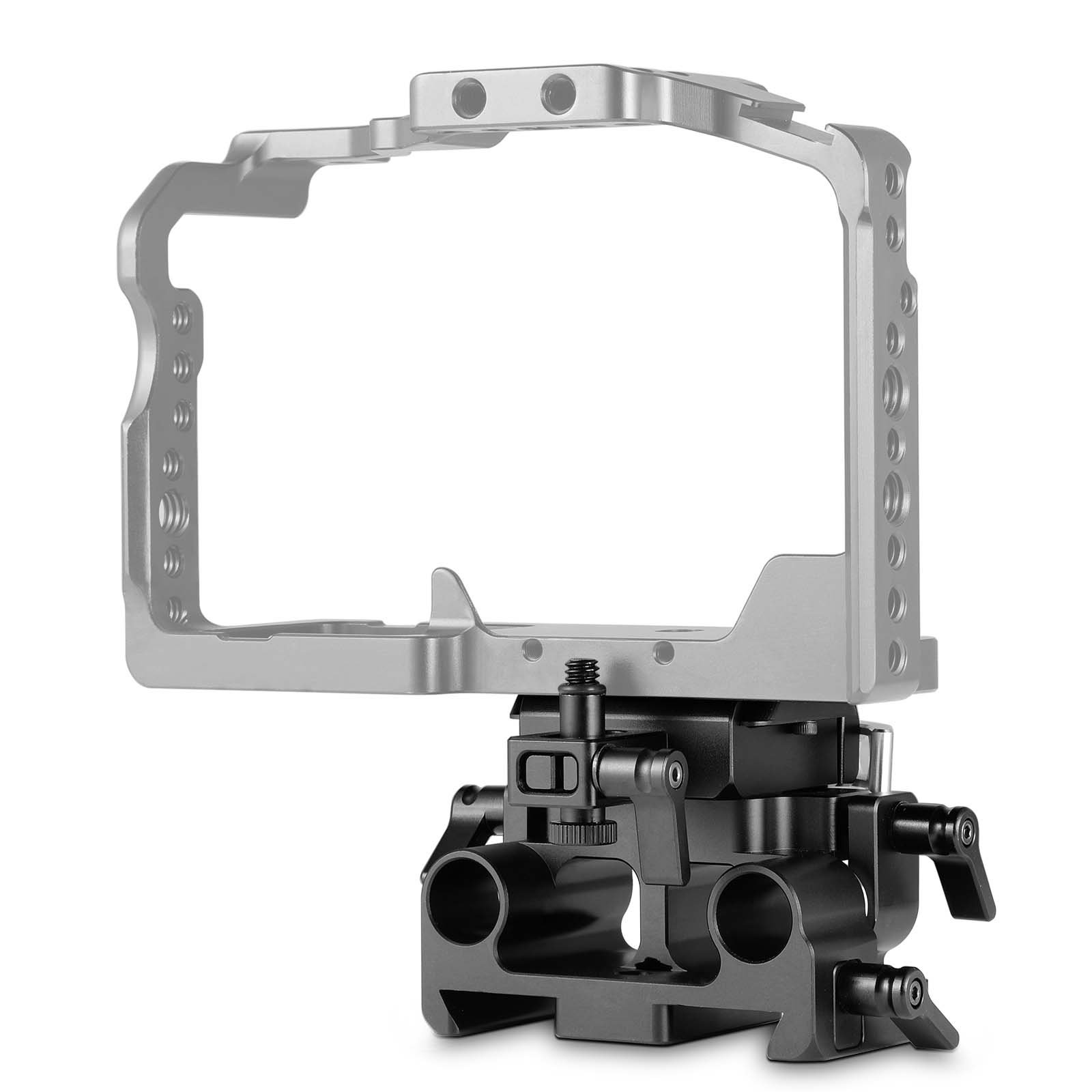 SmallRig GH5/GH5S Quick Release Baseplate Kit for Panasonic Lumix, 15mm Rod Rail System with Lens Adapter Support