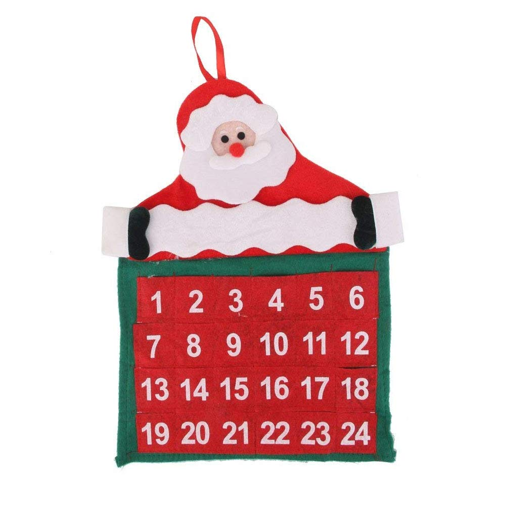 NiceButy Countdown to Christmas Advent Calendar Traditional Christmas Theme Calendar Wall Hanging Decoration Perfect for Home or Office Christmas Decorations