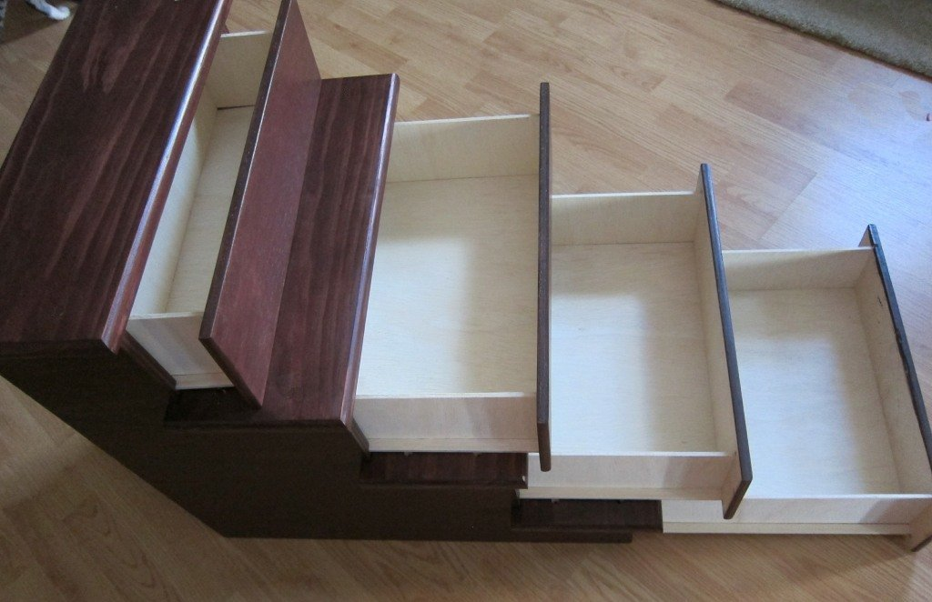 24'' Pet Stairs with Storage Drawers by Clever Cat & Crafty Dog