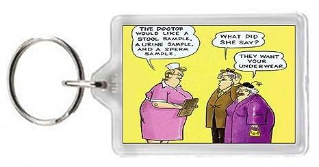 Llavero Médico muestra taburete caca orina esperma Nix ...