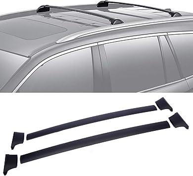 For 2016-2018 Honda Pilot Factory Style Roof Top Rack Aluminum Cross Bar Black