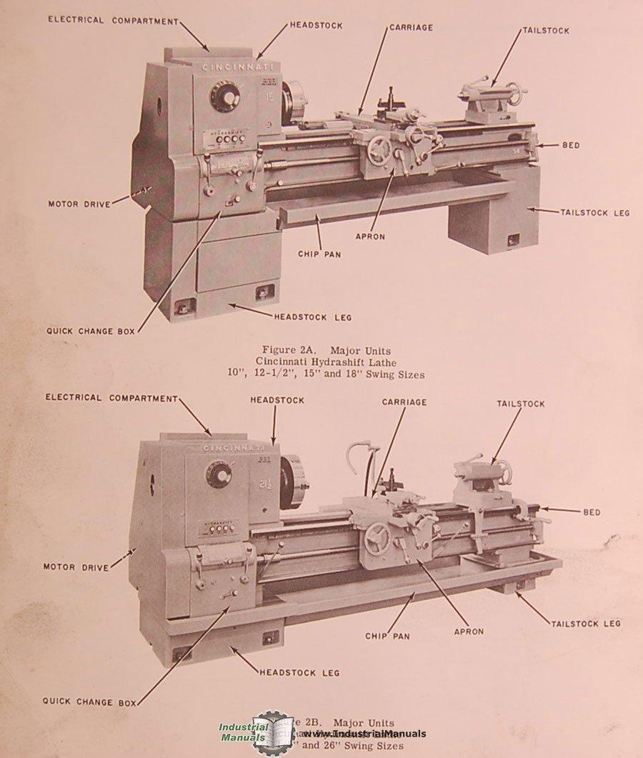 Cincinnati Lrt Hydrashift Lathe Service And Parts Manual Engine Diagram Books