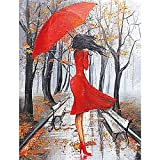 """TINMI ARTS-5D Diamond Painting Kits for Adults Full Round Mosaic Cross Stitch Kits Embroidery Kits Home Wall Décor[16""""x20"""" Red-Clothed"""