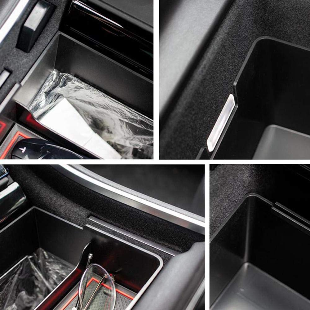 Womdee Center Console Organizer Tray for Tesla Model 3 Portable Washable Phone Sunglass Holder Tray Tesla Model 3 Accessories 2017-2019 Dual Trash Can and Storage Bin