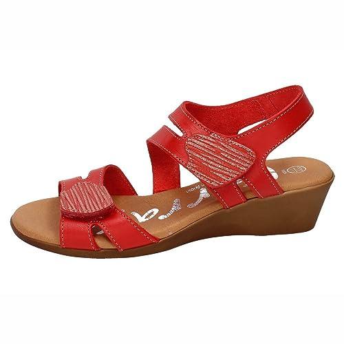 KARRALLI 3895, Sandales Femme - Rouge - Rouge, 38 EU EU