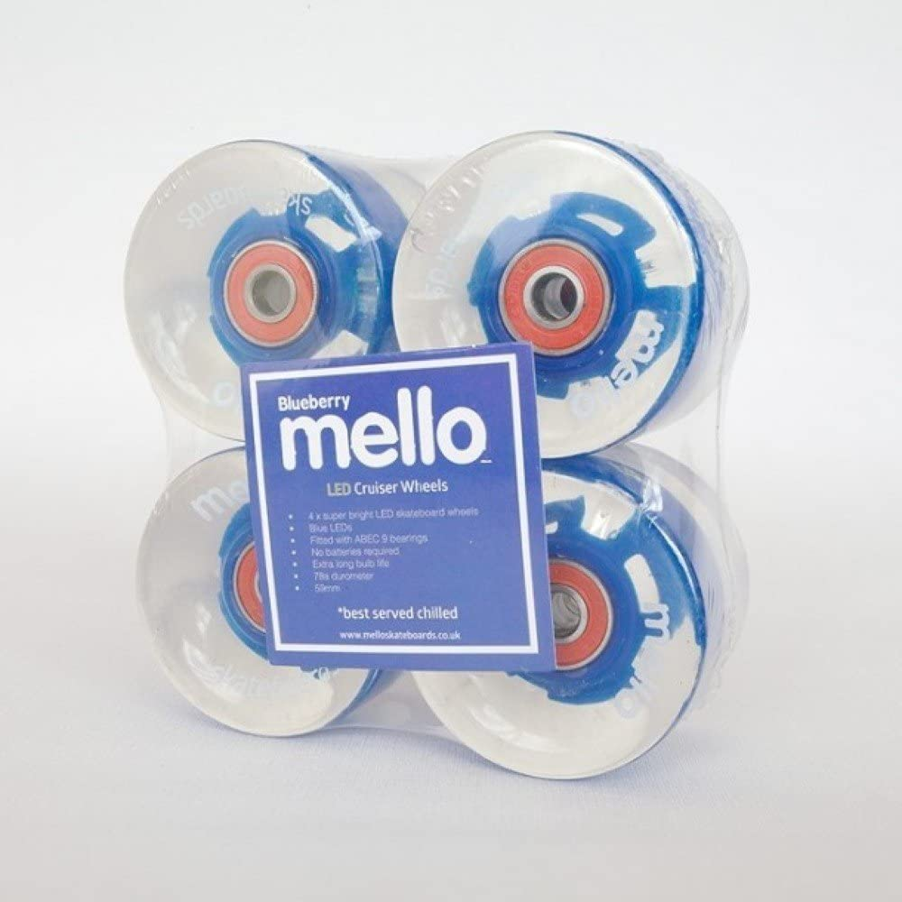 Mello Unisex-Youth Blue Ice Skateboard Wheels