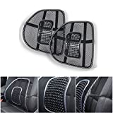 Mesh Lumbar Back Support for Office Chair Car Seat Lower Back Chair Car Support Cushion Back Rest Cushion Back Pain Relief (Set of 2)