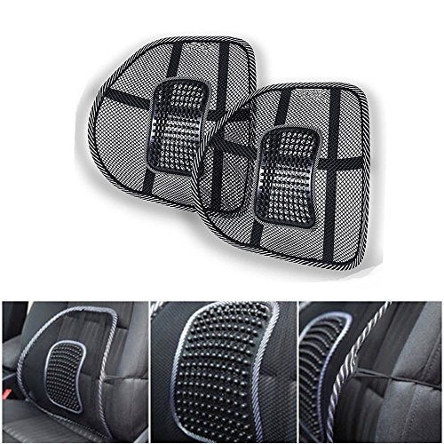 Mesh Lumbar Back Support for Office Chair Car Seat Lower Back Chair Car Support Cushion Back Rest Cushion Back Pain Relief (Set of 2) by AV SUPPLY