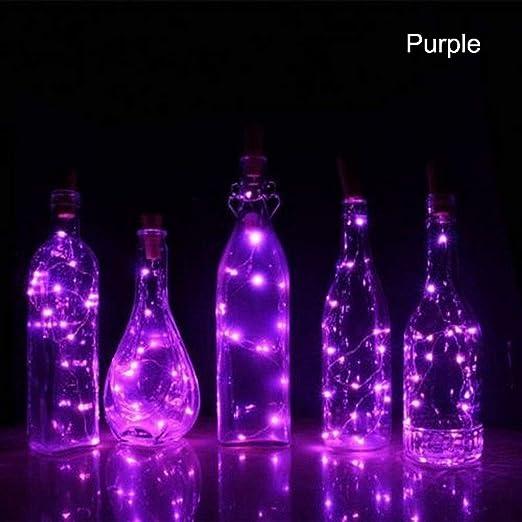 EisEyen 2 m 20 led Solar luz Cadena Botellas Vino Botella Corcho ...