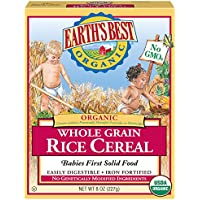 12-Pack Earth's Best Organic Infant Cereal Whole Grain Rice
