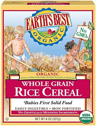 Baby Food: Earth's Best Organic Cereal