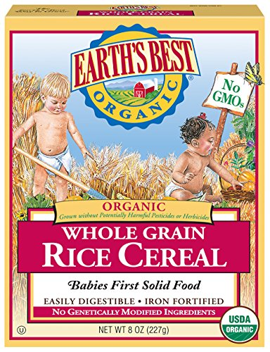 Earth's Best Organic Infant Cereal, Whole Grain Rice, 8 oz. Box (Pack of 12)