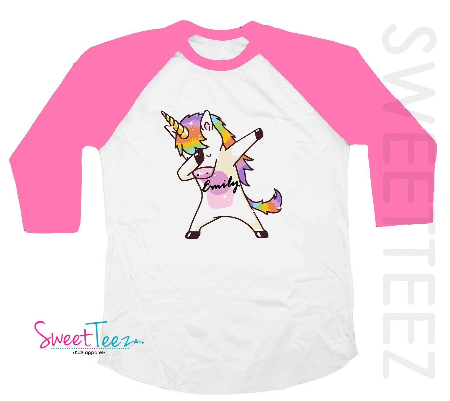 THE UNICORN/'S MADE ME DO IT GIRLS BOYS PERSONALISED KIDS T SHIRT GREAT GIFT IDEA