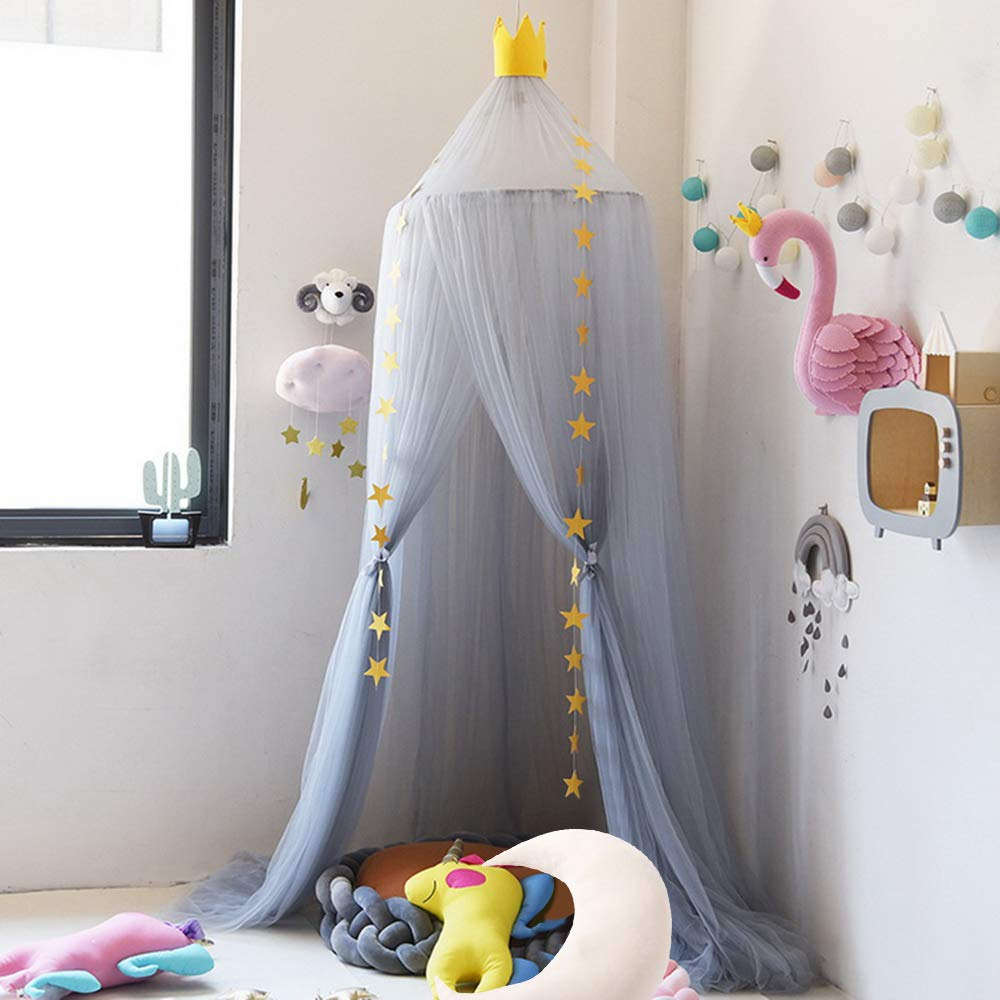 Nibesser Childrens Babies 100/% Polyester Romantic Bed Canopy Mosquito Net for Cot Childrens High Bed Canopy 240/cm