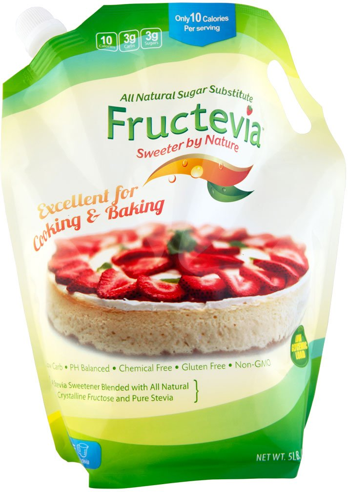 Fructevia - 5 lb bag - Fructose, Inulin & Stevia Blend - NonGMO Low Carb Sweetener
