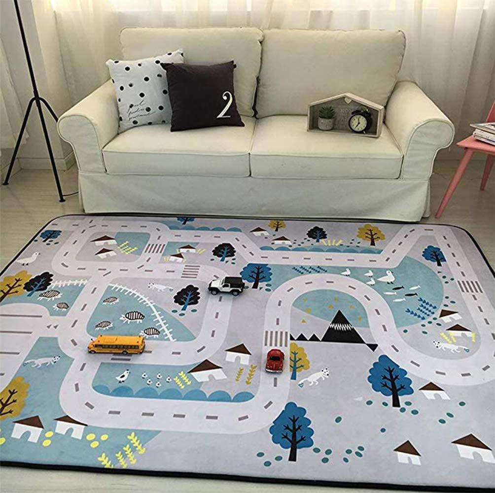 Descuento del 70% barato A A A Thole Rug House Alfombra Infantil de Ciudad para Juegos Poliamida gris 59x79  suministramos lo mejor