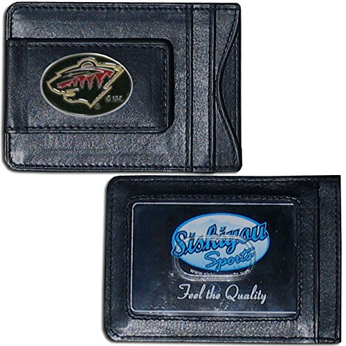 NHL Minnesota Wild Leather Cash and Cardholder